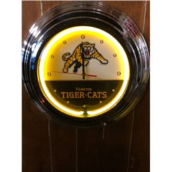 NEON WALL CLOCK (HAMILTON TIGER-CATS)
