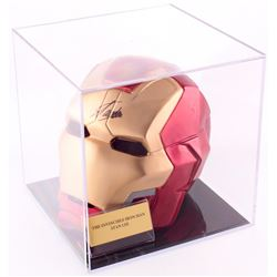 Stan Lee Signed Marvel Iron Man Mask with Display Case (PSA COA)