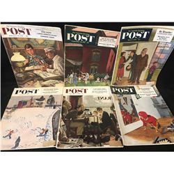 1950's THE SATURDAY EVENING POST MAGAZINE LOT