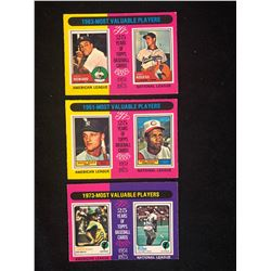 1960-70'S TOPPS MOST VALUABLE PLAYERS BASEBALL CARDS LOT