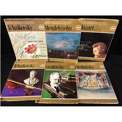 The Great Musicians Weekly Book Lot (TCHAIKOVSKY. MENDELSSOHN, MOZART)