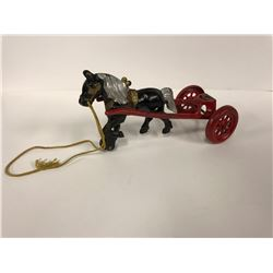 ANTIQUE HORSE & BUGGY CAST IRON TOY