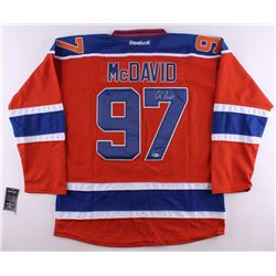 Connor McDavid Signed Captains Oilers Jersey (Beckett COA)