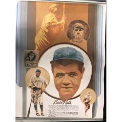 COCA COLA ADVERTISING POSTER FEATURING BABE RUTH (LIMITED EDITION)