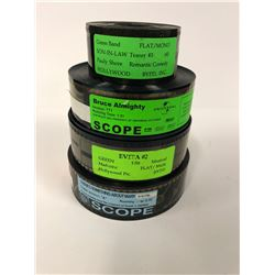 MOVIE REELS TEASERS LOT (SON-IN-LAW, BRUCE ALMIGHTY, EVITA #2, SOMETHING ABOUT MARY)