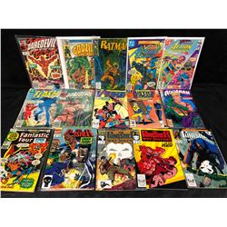 DC & MARVEL COMIC BOOK LOT (THE PUNISHER, DAREDEVIL, FANTASTIC FOUR, FLASH & MORE)