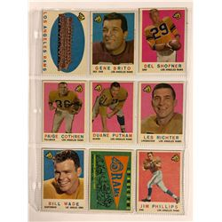 1959 TOPPS FOOTBALL CARDS LOT