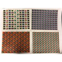 1950-60'S UNUSED SHEETS OF STAMPS LOT (CATALOGUED)