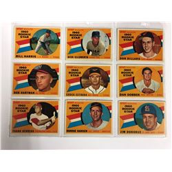 1960 SPORT MAGAZINE ROOKIE STARS BASEBALL CARD LOT