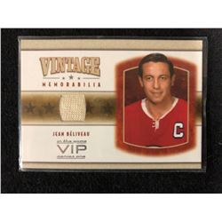 IN THE GAME SERIES ONE VINTAGE MEMORABILIA JEAN BELIVEAU HOCKEY CARD