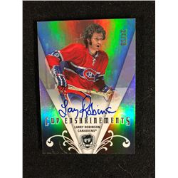 LIMITED EDITION LARRY ROBINSON AUTOGRAPHED CUP ENSHRINEMENTS HOCKEY CARD (24/50)