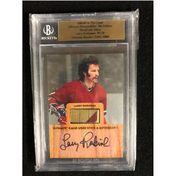 2004-05 ULTIMATE MEMORABILIA 5TH EDITION LARRY ROBINSON STICK/AUTO SILVER (39/40)
