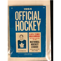 1964 OFFICIAL HOCKEY BOOK (FRANK MAHOVLICH COVER)