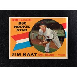 1960 SPORT MAGAZINE ROOKIE STAR JIM KAAT BASEBALL CARD