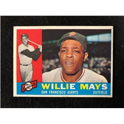 1960 Topps Baseball Card #200 Willie Mays (San Francisco Giants)