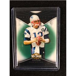 LIMITED EDITION 2009 Topps Triple Threads Emerald #28 Tom Brady (New England Patriots) Card (97/149)