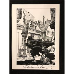 "BERNIE WRIGHTSON AUTOGRAPHED 12"" X 16"" ARTIFACT EDITION PRINT"