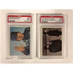 1964 BEATLES TRADING CARDS (HIGH GRADES) PSA