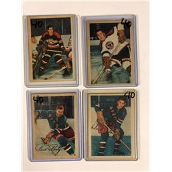 1953-54 PARKHURST HOCKEY CARD LOT (DEWSBURY, PETERS, RONTY, RALEIGH)