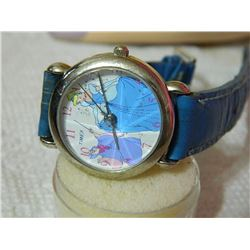 WATCH - TIMEX - DISNEY - BLUE LEATHER STRAPS