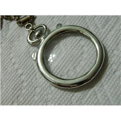 "NECKLACE - POCKET WATCH FRONT ON CHAIN - 2"" DIAMETER & 22"" CHAIN"