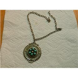 "NECKLACE - ON CHAIN - 2 ½"" DIAMETER"