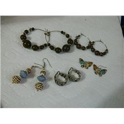 EARRINGS - ASSORTED - 5 TTL - some may be as-is