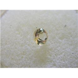 GEMSTONE - ROUND FACETED BRIGHT YELLOW CITRINE - 5.8 X 4.0 mm - ~ 0.64 CT