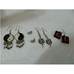 EARRINGS - ASSORTED - 4 TTL - some may be as-is