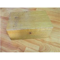 WOOD JEWELRY BOX & CONTENTS