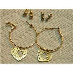 ASSORTED EARRINGS - some may be silver - 3 SETS TTL