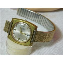 WATCH - SOLAR - ENGRAVED ON BACK - STRAPS AS-IS
