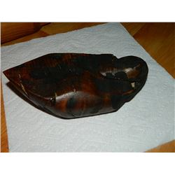 NEW HAND CRAFTED BURL TRINKET BOX - DUCK DESIGN - PULL HEAD TO REVEAL BOX