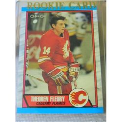 ROOKIE HOCKEY CARD - THEOREN FLEURY - CALGARY FLAMES - #232 - CONDITION - NEAR MINT