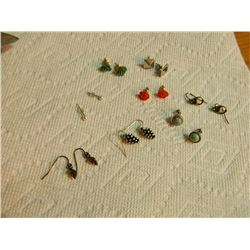 ASSORTED EARRINGS - some may be silver - 8 SETS TTL