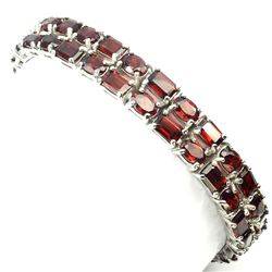 Natural  Orange Mozambique Garnet 163 Carats Bracelet