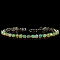 NATURAL AAA RAINBOW WHITE OPAL Bracelet