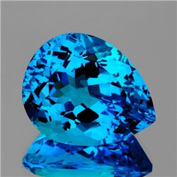 Natural Swiss Blue Topaz 29.82 cts - Certified