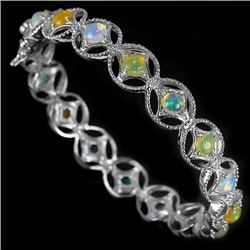 Stunning Natural Multi Color Opal Bracelet