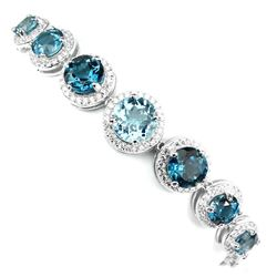 Natural London Blue Topaz Sky Blue Topaz Bracelet