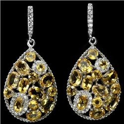 NATURAL AAA YELLOW CITRINE EARRINGS