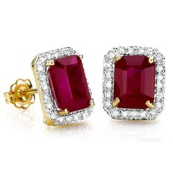 Genuine Ruby  Solid Gold Earrings