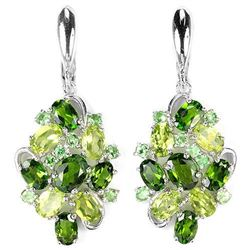 Natural CH-DIOPSIDE PERIDOT TSAVORITE GARNET Earrings