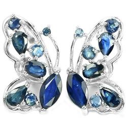 Natural BLUE SAPPHIRE BUTTERFLY EARRING