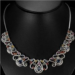 Natural Fancy Color Sapphire 179 Carats Neckace