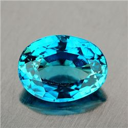 Natural Intense Blue Zircon 3.75 Cts {VVS}