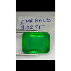 Natural Columbian Green Emerald 9.02 Carats