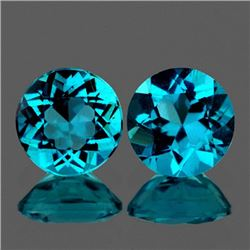 Natural Rare Brazil Blue Apatite Pair 7.00 MM - VVS