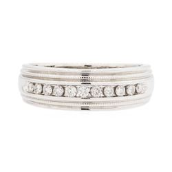 14KT White Gold Men's 0.35 ctw Diamond Ring