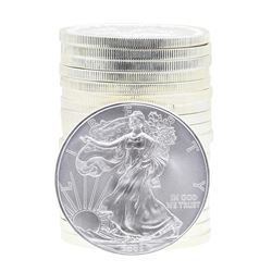Roll of (20) 2008 $1 American Silver Eagle Brilliant Uncirculated Coins